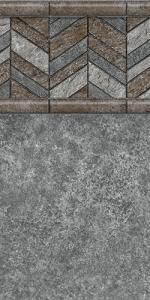 Merlin-Herringbone-Island-Granite Pool l iner