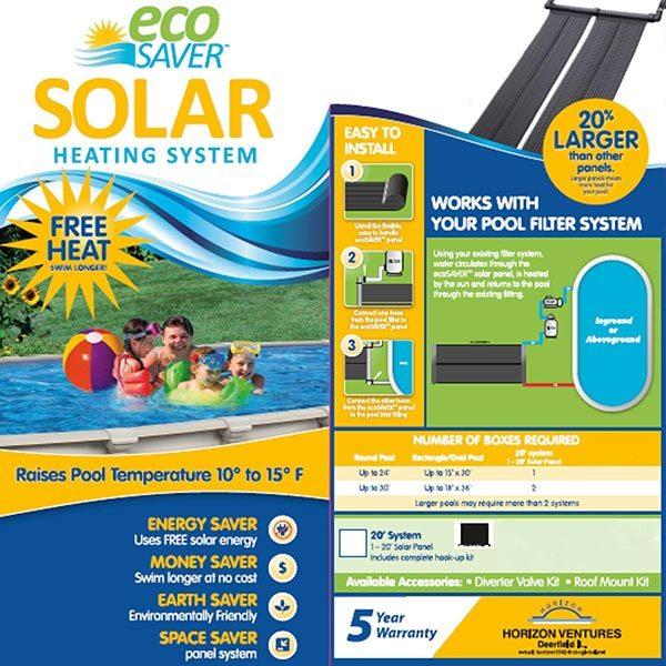 ecoSaver Solar Pool Heater